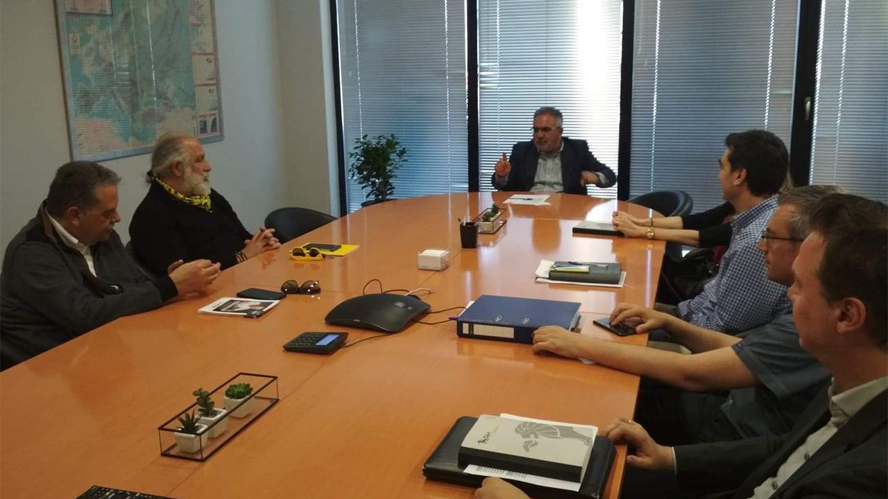 Συνάντηση με τον γενικό διευθυντή ΕΔΑ Θεσσαλονίκης Λεωνίδα Μπάκουρα 21-5-2019