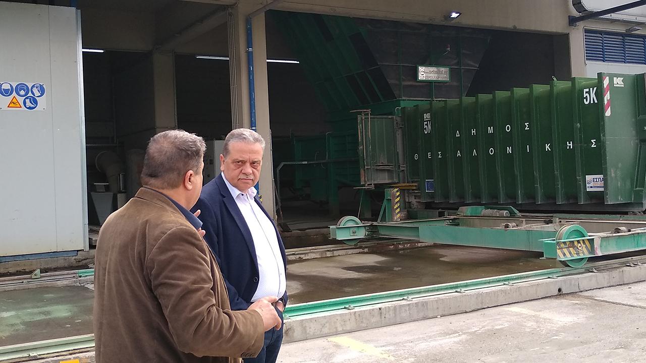 Επίσκεψη στον ΣΜΑ και το γραφείο κίνησης οχημάτων καθαριότητας (πρώην Lavifarm).