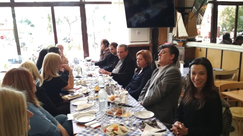 2-4-2019 Συνάντηση με δημοσιογράφους είχε ο Σάκης Τζακόπουλος